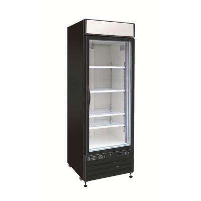 X-Series 23 cu. ft. Single Door Commercial Upright Merchandiser Freezer in Black