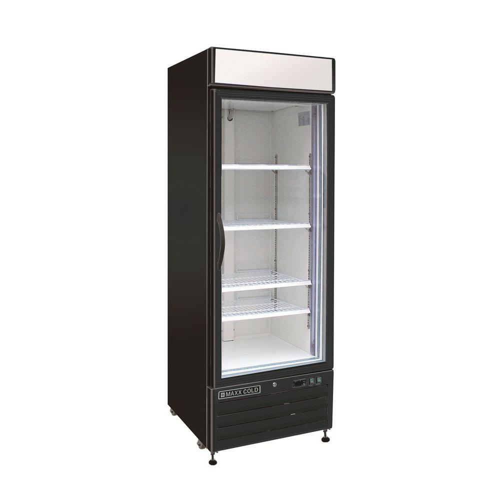 Commercial refrigerator for home use - Single Door Merchandiser Refrigerator In Black