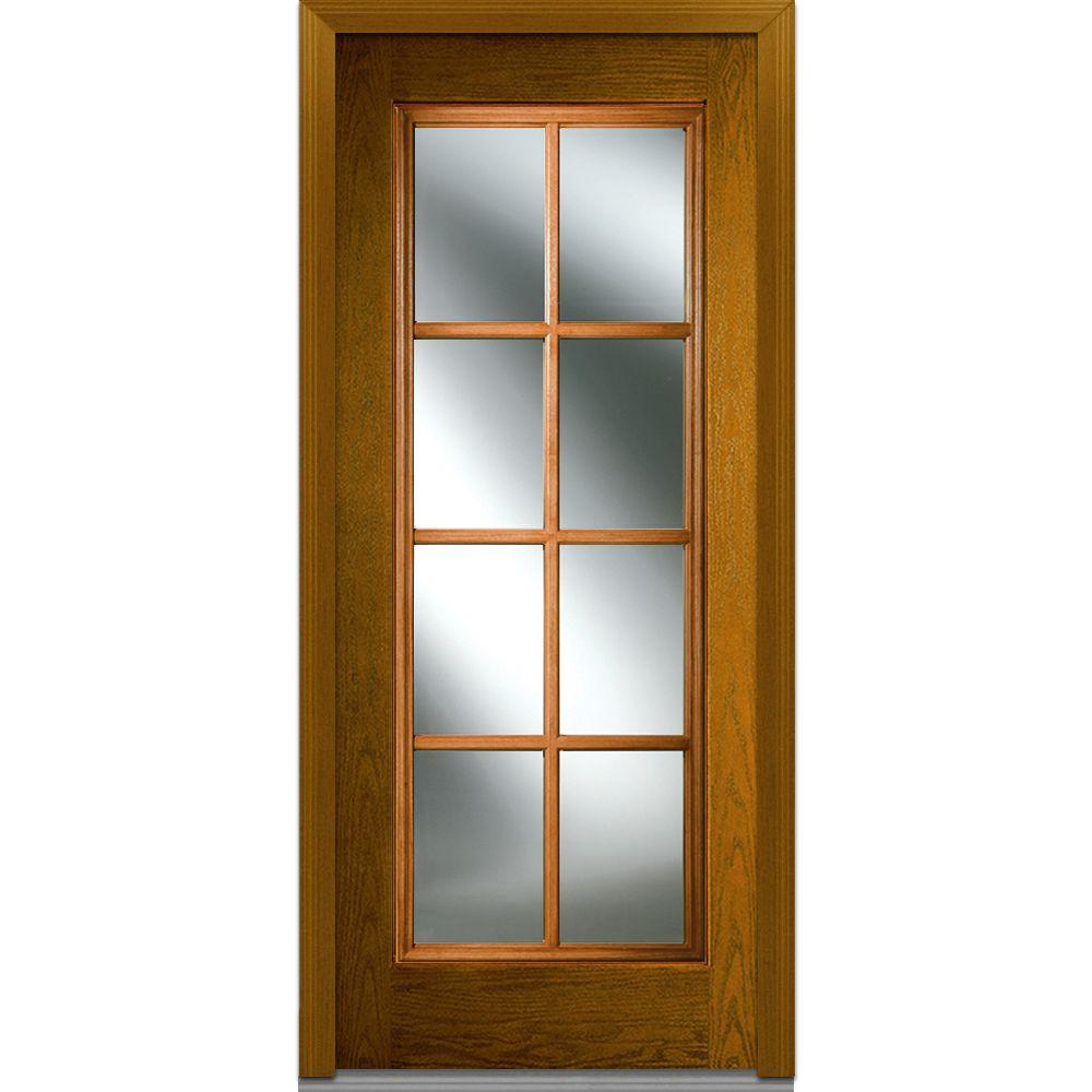 Mmi door 32 in x 80 in sdl low e right hand full lite for 15 lite door insert