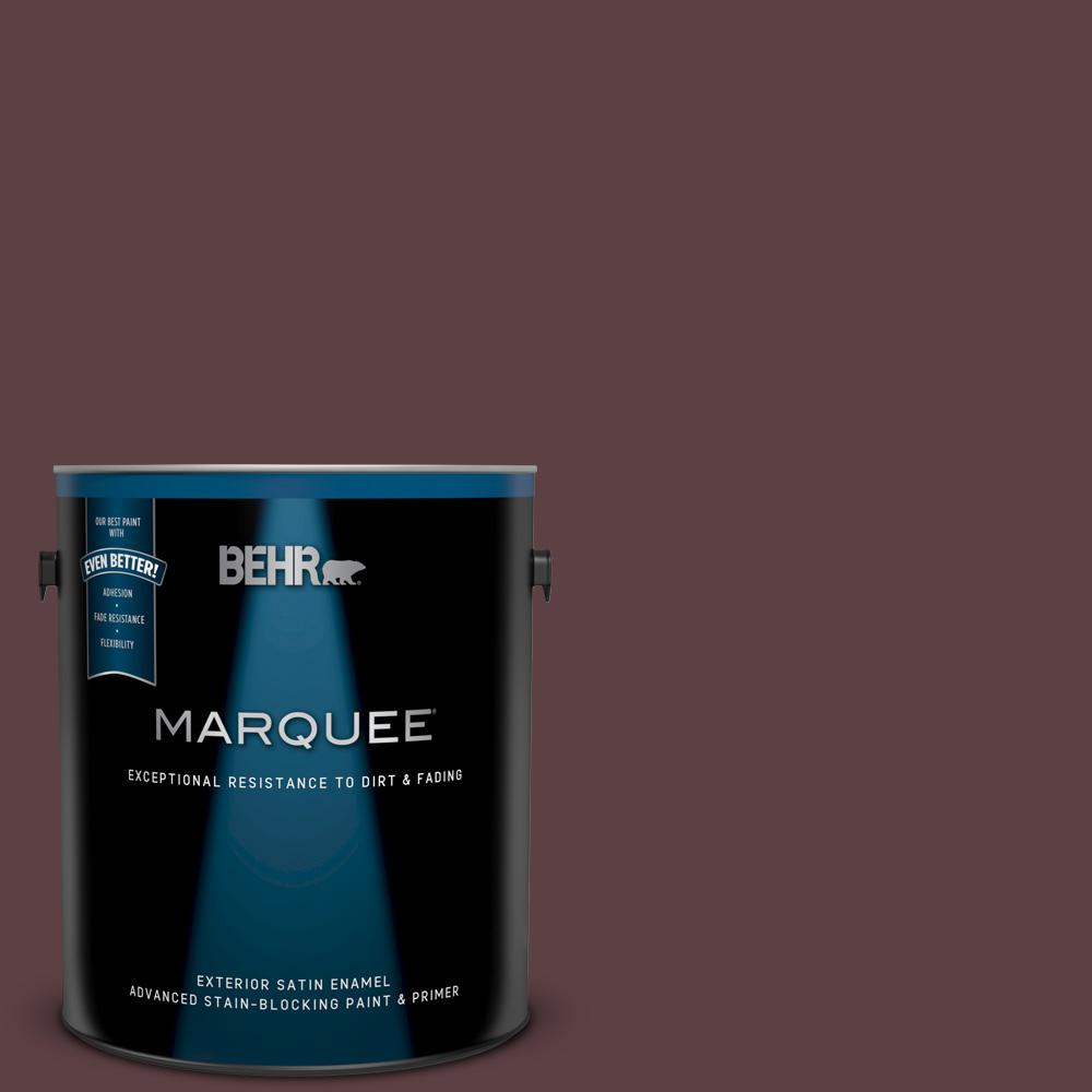 Behr Marquee 1 Gal S G 700 Wild Raisin Satin Enamel Exterior Paint And Primer In One 945301 The Home Depot