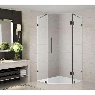 Neoscape 42 in. x 42 in. x 72 in. Completely Frameless Neo-Angle Shower Enclosure in Oil Rubbed Bronze