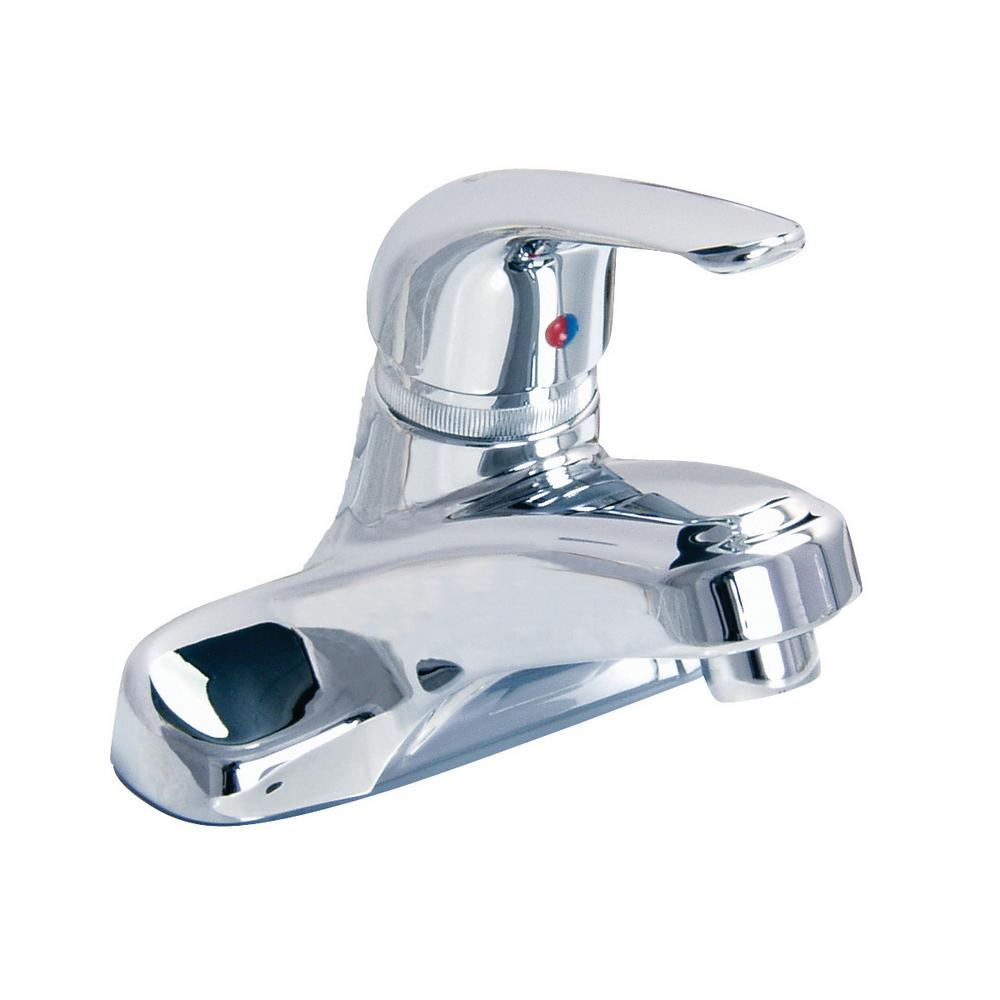 Windon Bay Chandler 4 in. Centerset Single-Handle Bathroom Faucet Handle with Pop-Up Drain Assembly in Polished Chrome