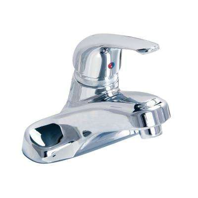 Chandler 4 in. Centerset Single-Handle Bathroom Faucet Handle with Pop-Up Drain Assembly in Polished Chrome