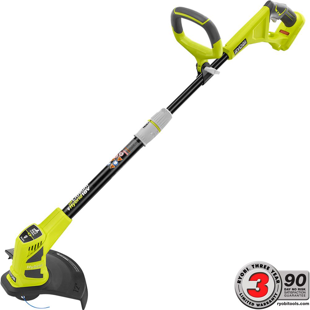 Ryobi ONE+ 18-Volt Lithium-Ion Hybrid Electric Cordless String Trimmer/Edger - Battery and Charger Not Included