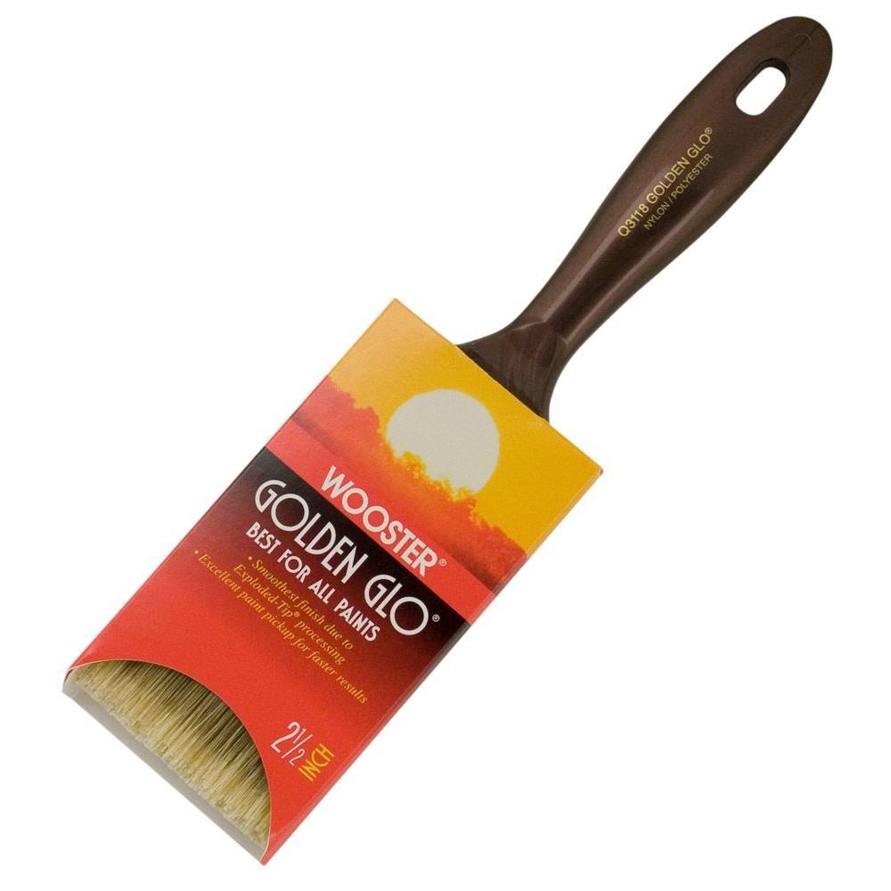 Golden Glo 2-1/2 in. Nylon/Polyester Flat Brush