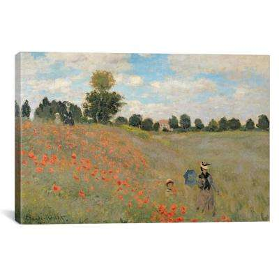 """Wild Poppies, Near Argenteuil, 1873"" by Claude Monet Canvas Wall Art"