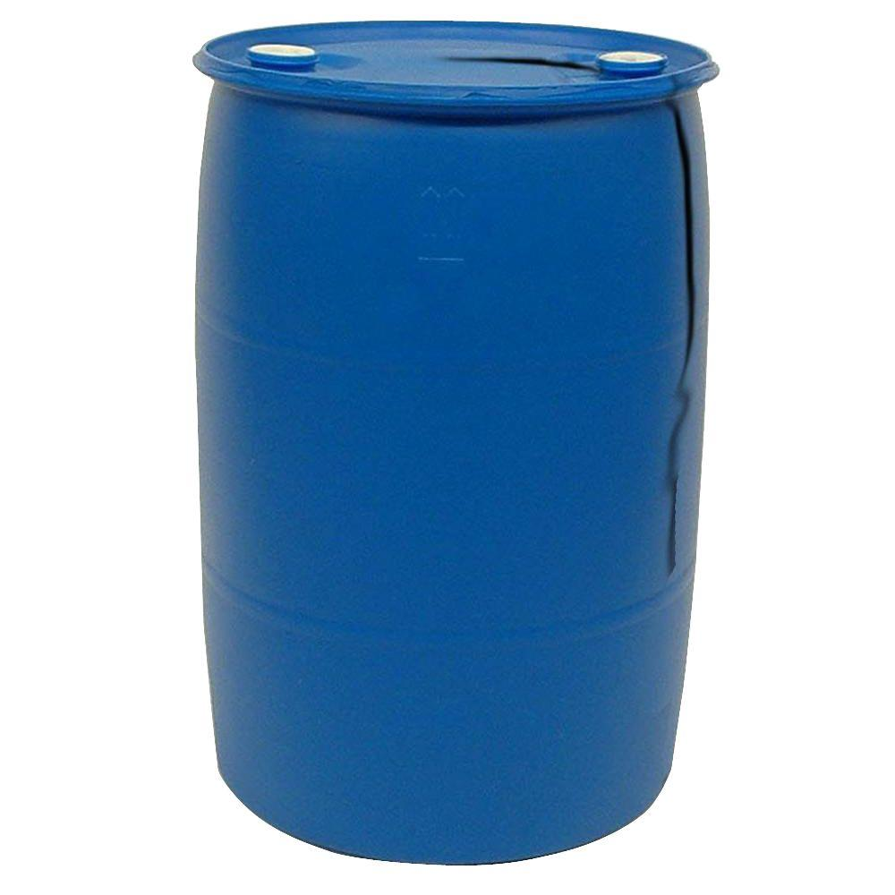 55 Gal Blue Industrial Plastic DrumPTH0933 The Home Depot