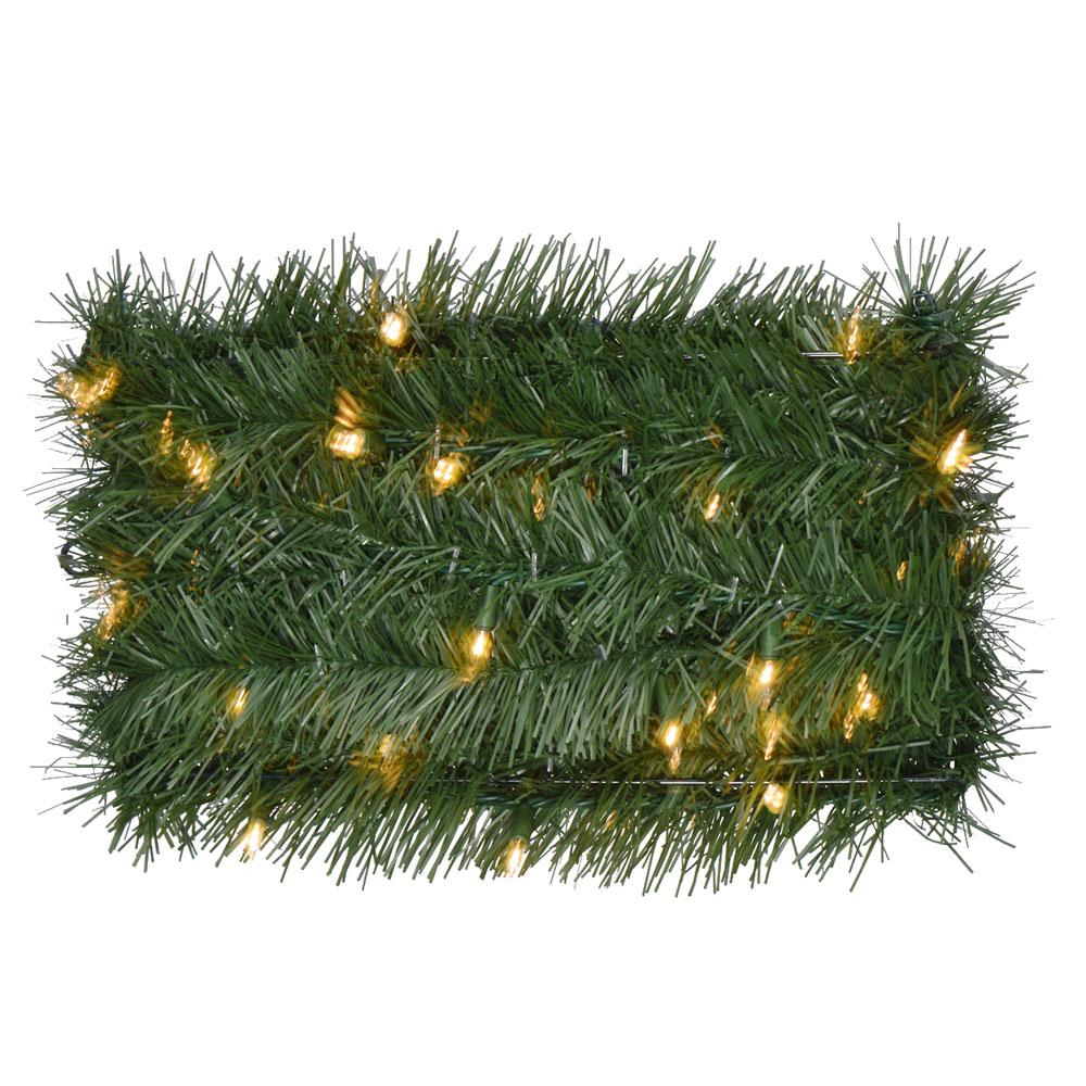 36 ft. Pre-Lit Artificial Christmas Rope Garland with 100 Clear Lights