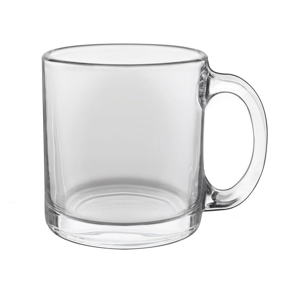 Robusta 13 oz. Clear Glass Coffee Mug (Set of 8)