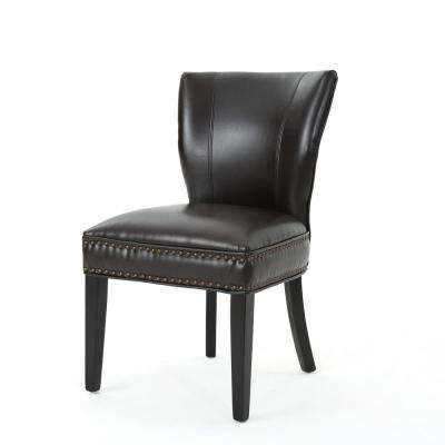 Jackie Brown Leather Accent Dining Chair (Set of 1)