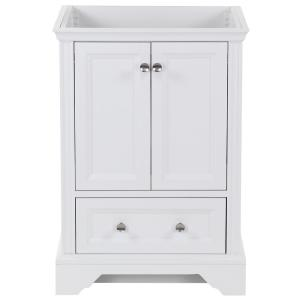 Stratfield 24 in. W x 22 in. D x 34 in. H Bath Vanity Cabinet Only in White