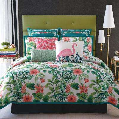 Tropicalia Floral King Duvet with Pillow Shams