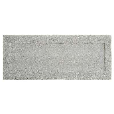 Dynasty 24 in. x 60 in. Micro Denier Polyester Runner Bath Rug in Gray