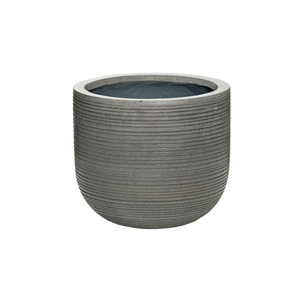 11 in. x 10 in. Rough Grey Round Fibercement Rough Pot