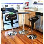 Adjustable Height Black Bar Stool (Set of 3)