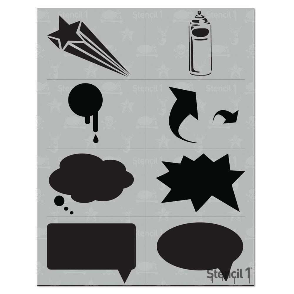 Stencil1 Graffiti Language Stencil (8-Pack)-S1_01_97 - The ...  Stencil1 Graffi...