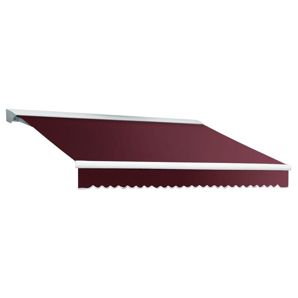 Beauty-Mark 8 ft. DESTIN EX Model Manual Retractable with Hood Awning (84 in. Projection) in Burgundy