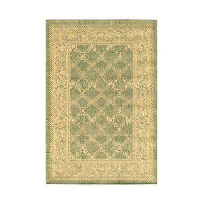 Entwined Green Natural 6 Ft X 9 Area Rug