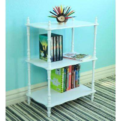 11.81 in. W x 18.9 in. D White Freestanding Decorative Shelf