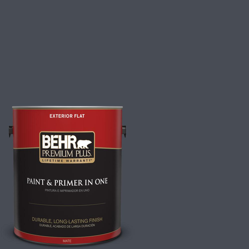 BEHR Premium Plus 1-gal. #750F-6 Sled Flat Exterior Paint