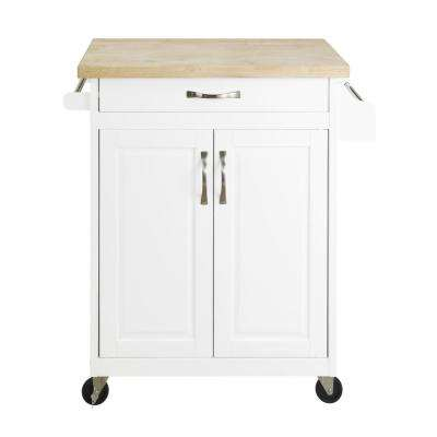 Rima White Kitchen Island