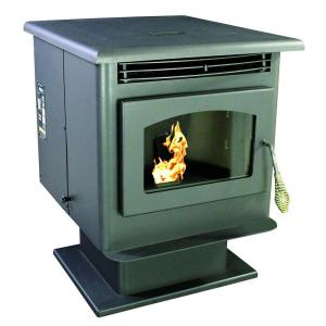 US Stove 1,800 sq. ft. EPA Certified Pellet Stove with 40 lb. Hopper and Auto Ignition by US Stove