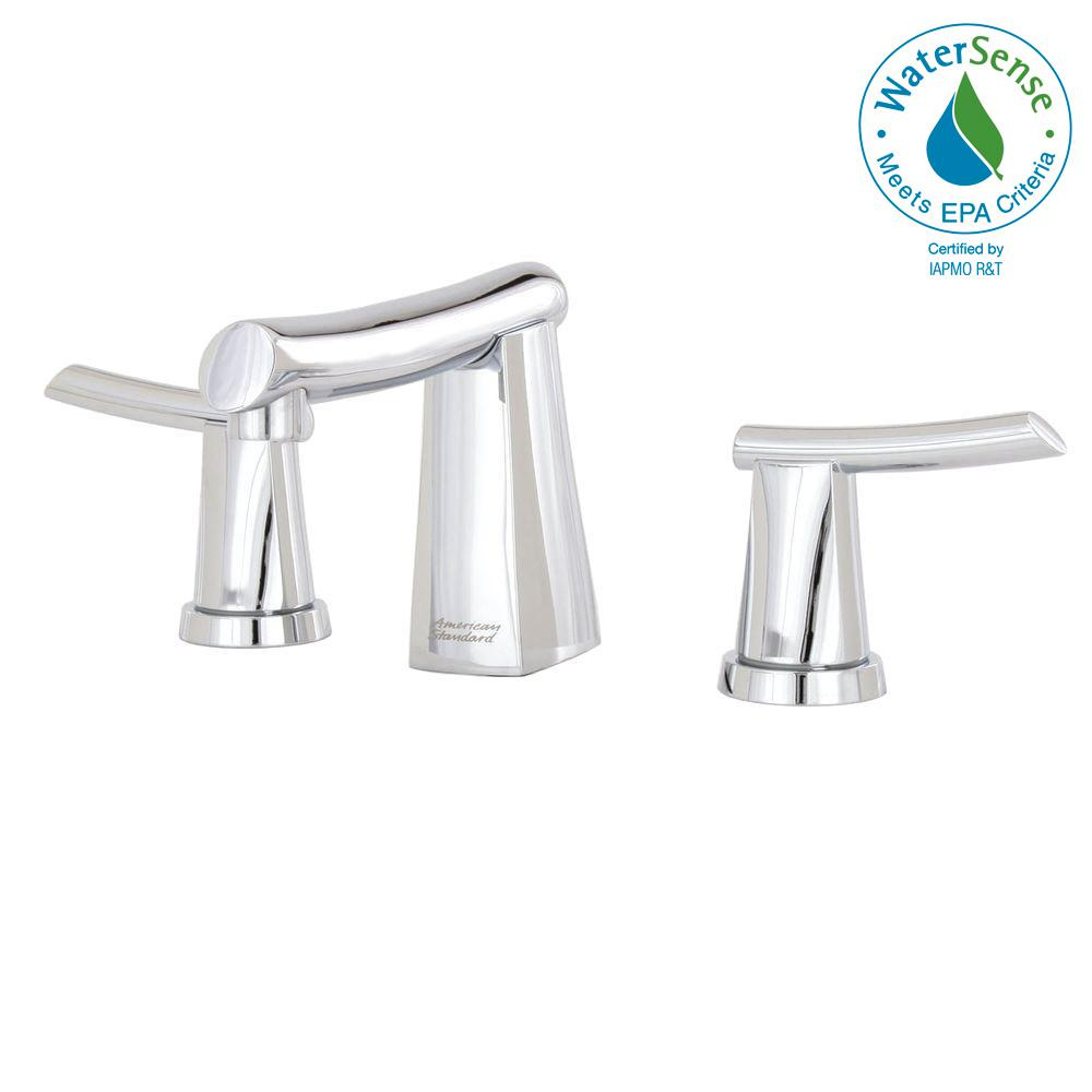 Green Tea 8 in. Widespread 2-Handle Mid-Arc Bathroom Faucet in Polished
