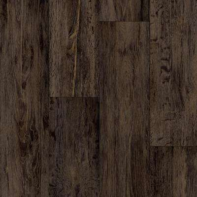 Barnwood Oak Dark Brown 13.2 ft. Wide x Your Choice Length Residential Vinyl Sheet Flooring