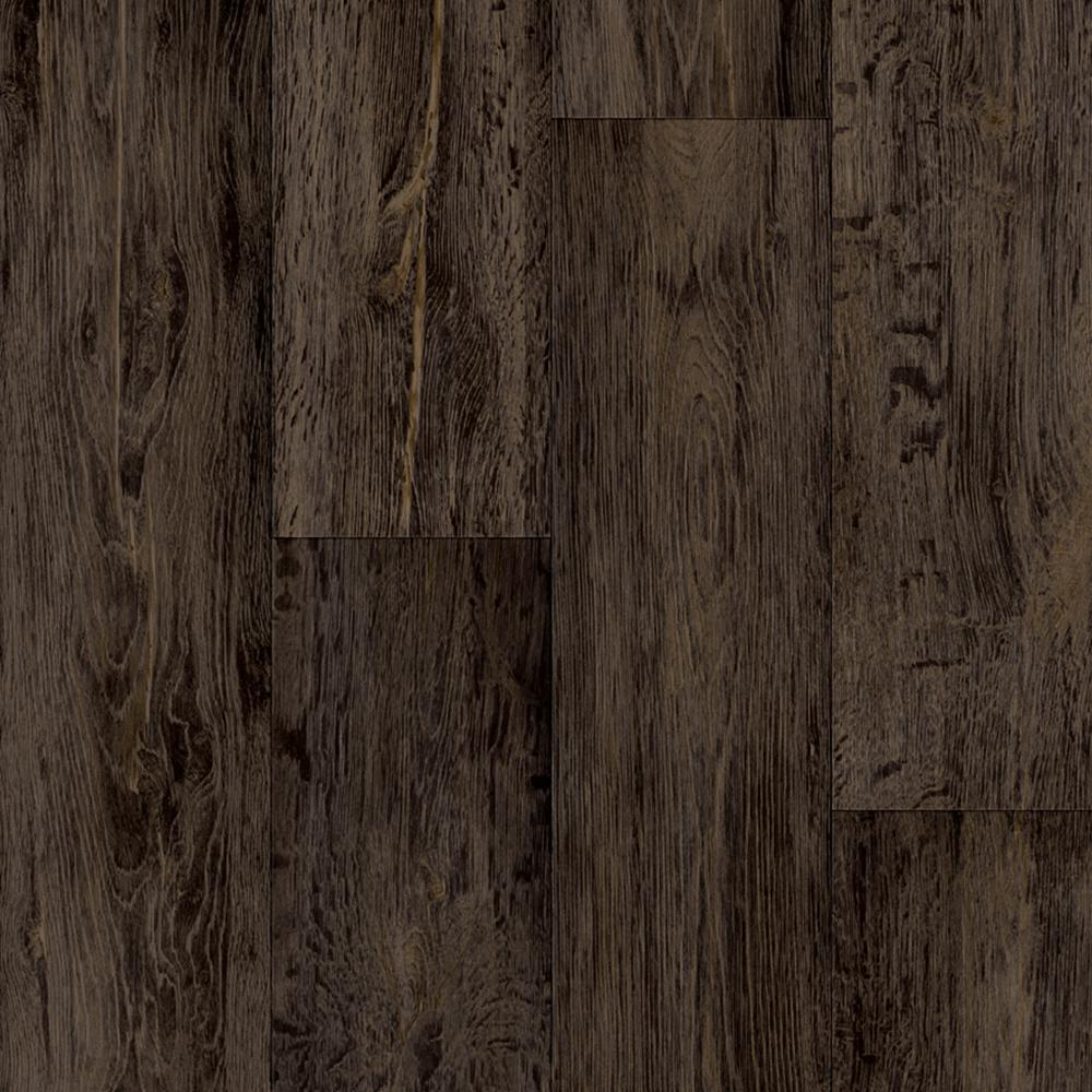 Barnwood Oak Dark Brown 13.2 ft. Wide Residential Vinyl Sheet
