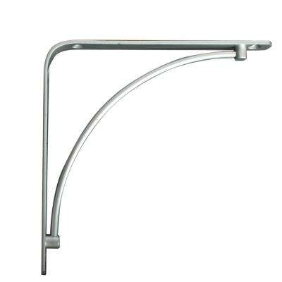 Manchester 5.75 in. L x 0.75 in. W Satin Nickel 50 lb. Decorative Shelf Bracket