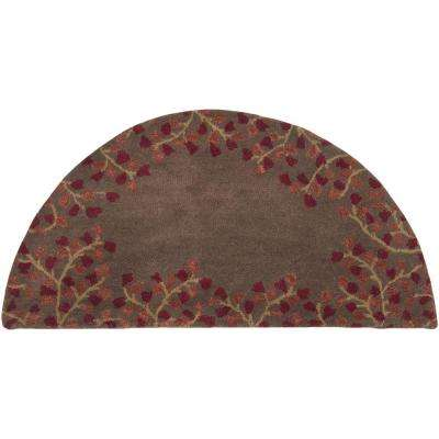 Canaan Burgundy 2 ft. x 4 ft. Hearth Indoor Area Rug