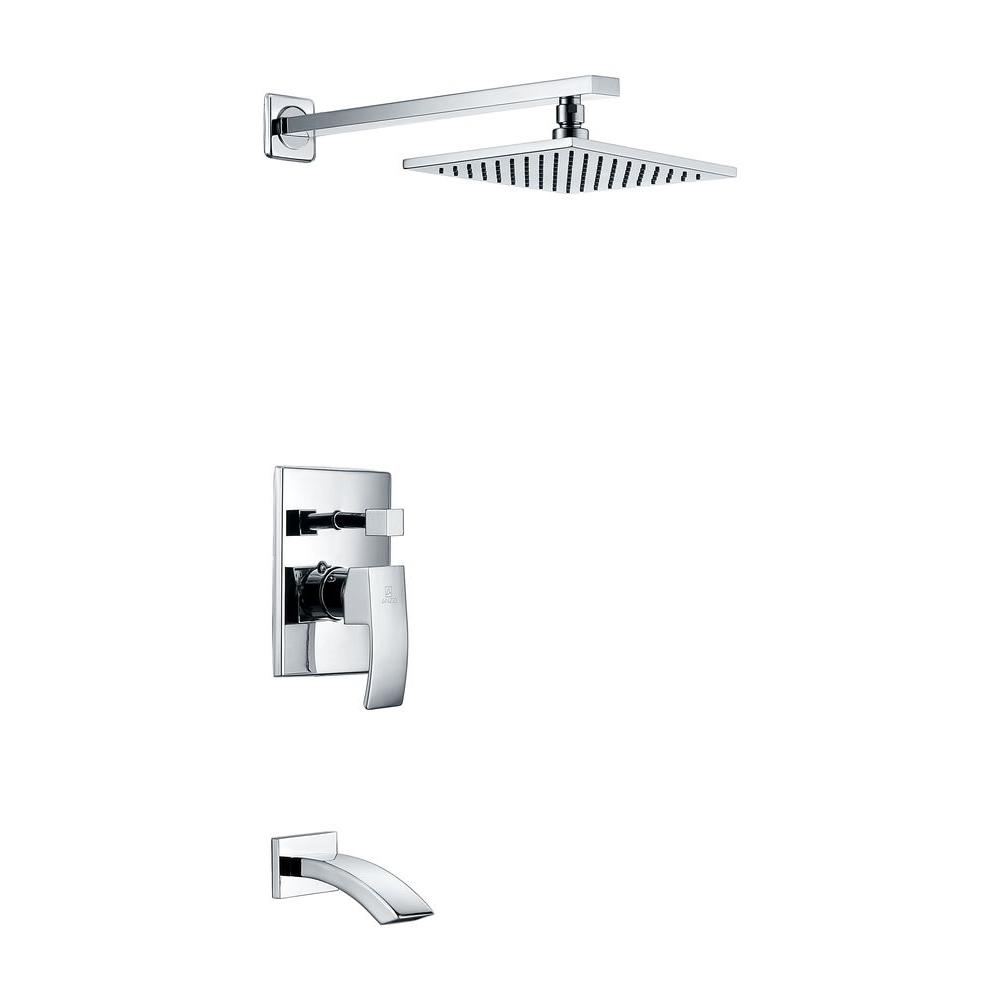 Spirito Series 1-Handle 1-Spray Tub and Shower Faucet in Polished Chrome