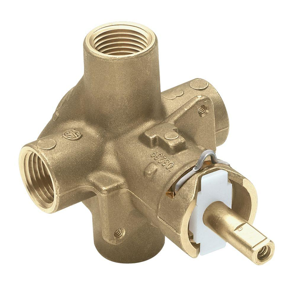 MOEN Brass Rough-In Posi-Temp Pressure-Balancing Cycling Tub and ...