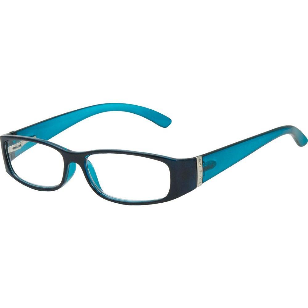 null Iris Dark Navy 2.50 Diopter Reading Glasses