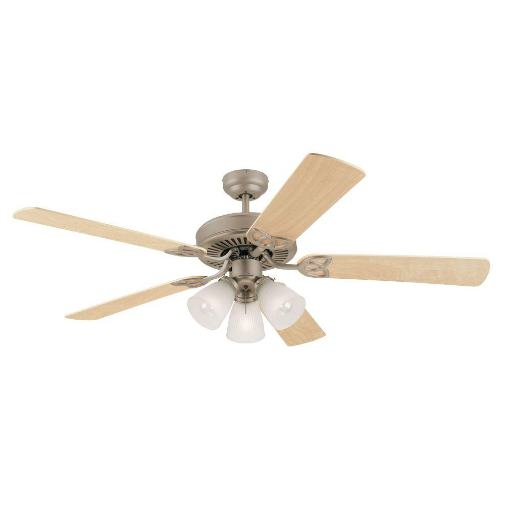 Westinghouse Vintage 52 in. Brushed Pewter Ceiling Fan