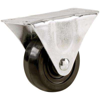 3 in. Soft Rubber Rigid Caster with 175 lb. Load Rating