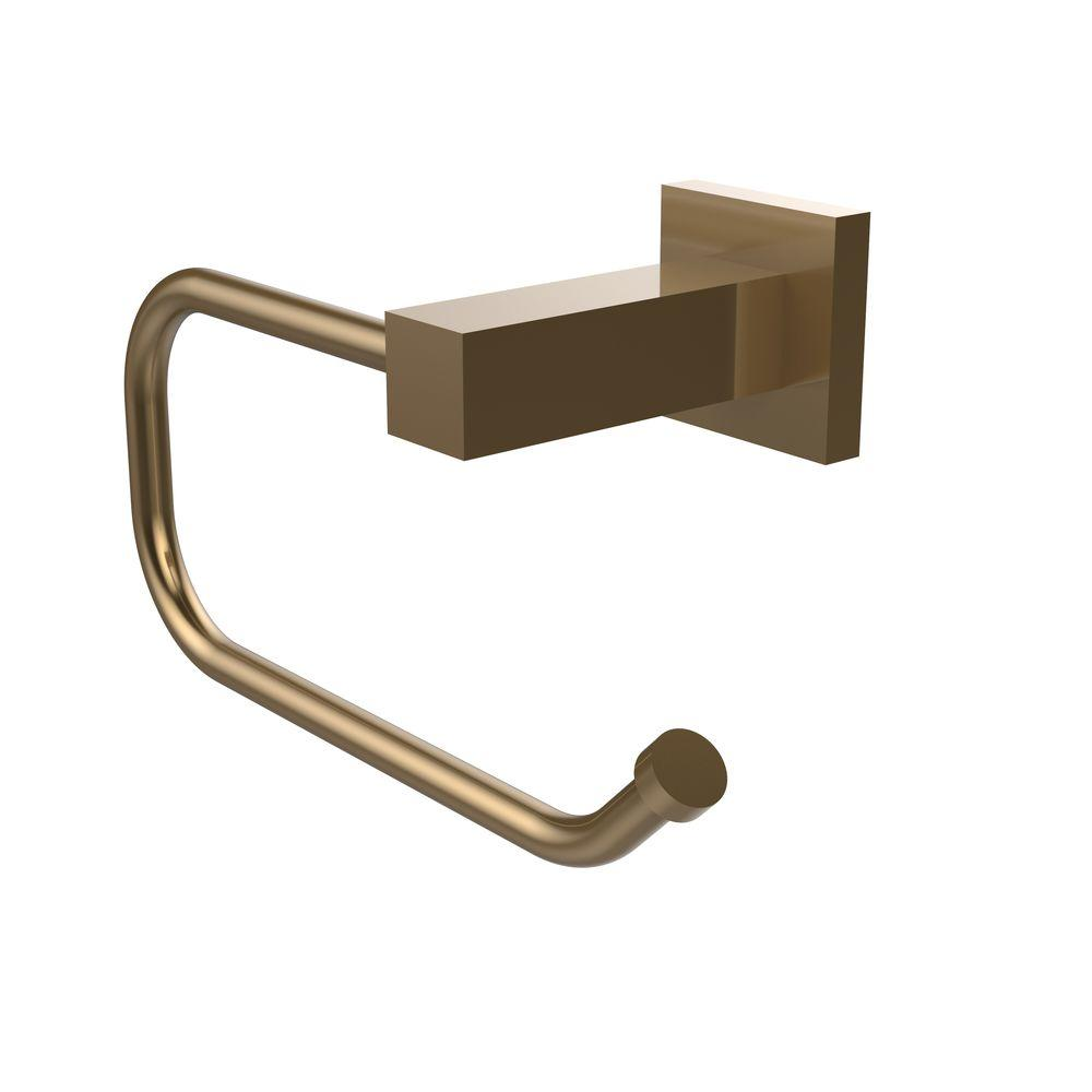 Montero Collection Euro Style Single Post Toilet Paper Holder in Brushed