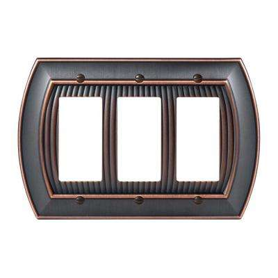 Sea Grass 3-Rocker Wall Plate, Oil-Rubbed Bronze