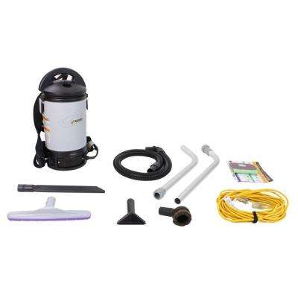Sierra Backpack Commercial Vacuum Cleaner with Restaurant Tool Kit
