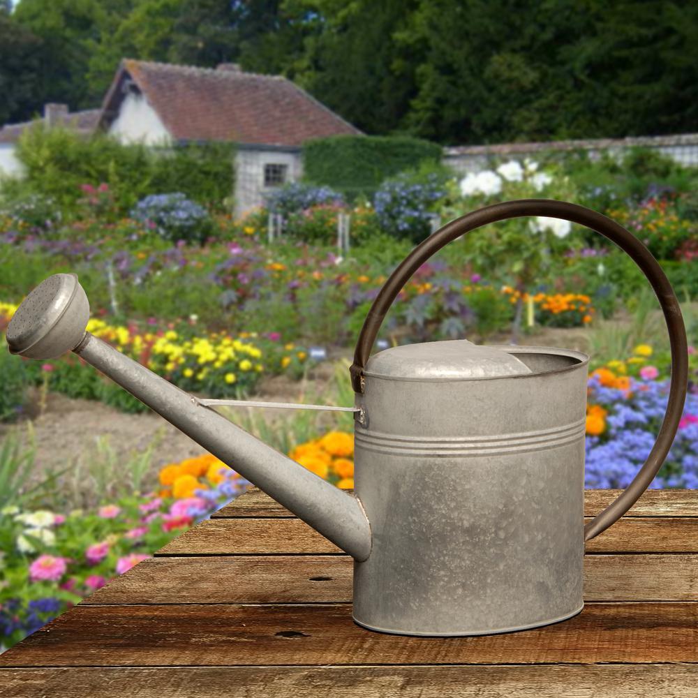 Garden Accents 18 in. Zinc Metal Watering Can