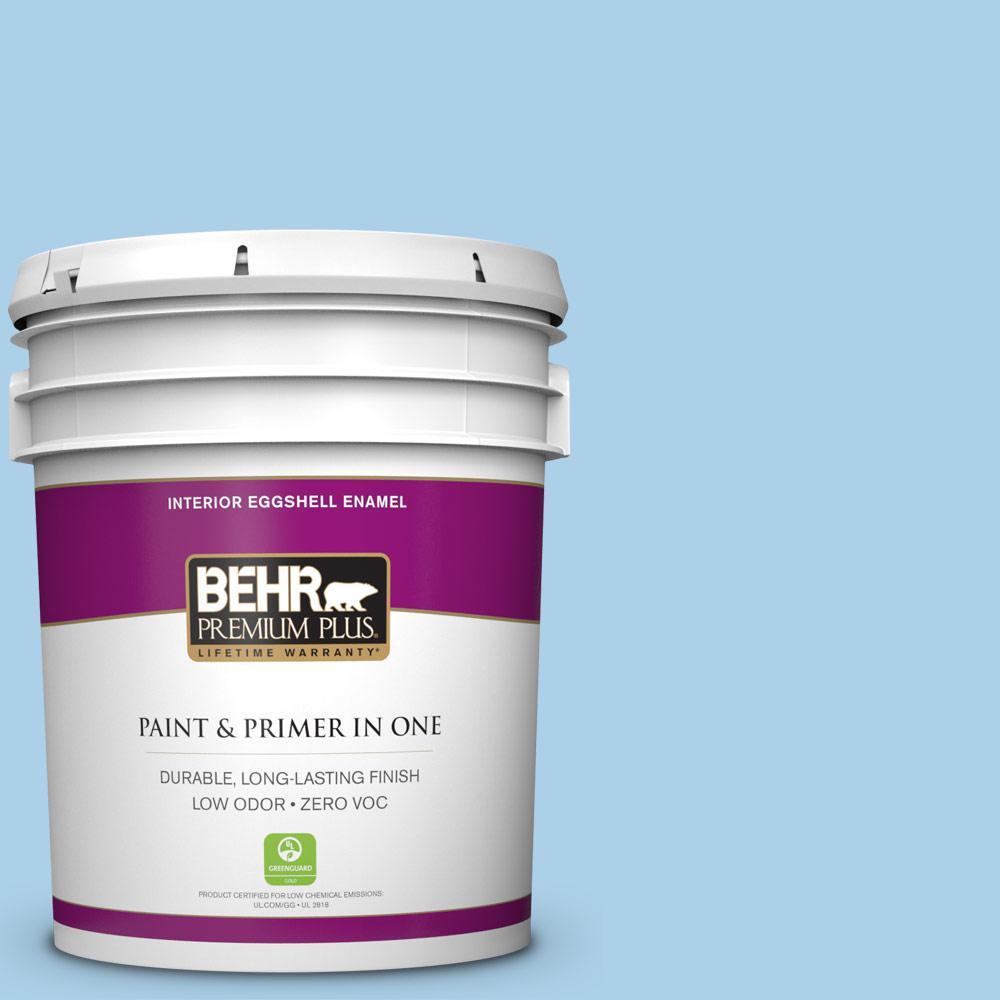 BEHR Premium Plus 5-gal. #560A-3 Utah Sky Zero VOC Eggshell Enamel Interior Paint