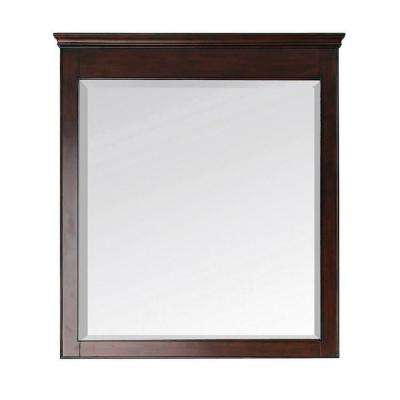Windsor 38 in. L x 34 in. W Wall Mirror in Walnut