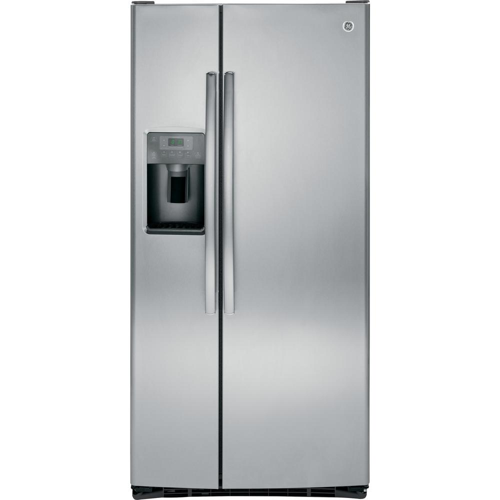 GE 23.2 cu. ft. Side by Side Refrigerator in Stainless Steel