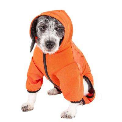 Large Orange Active Pawsterity Performance Two-Toned Full Bodied Hoodie