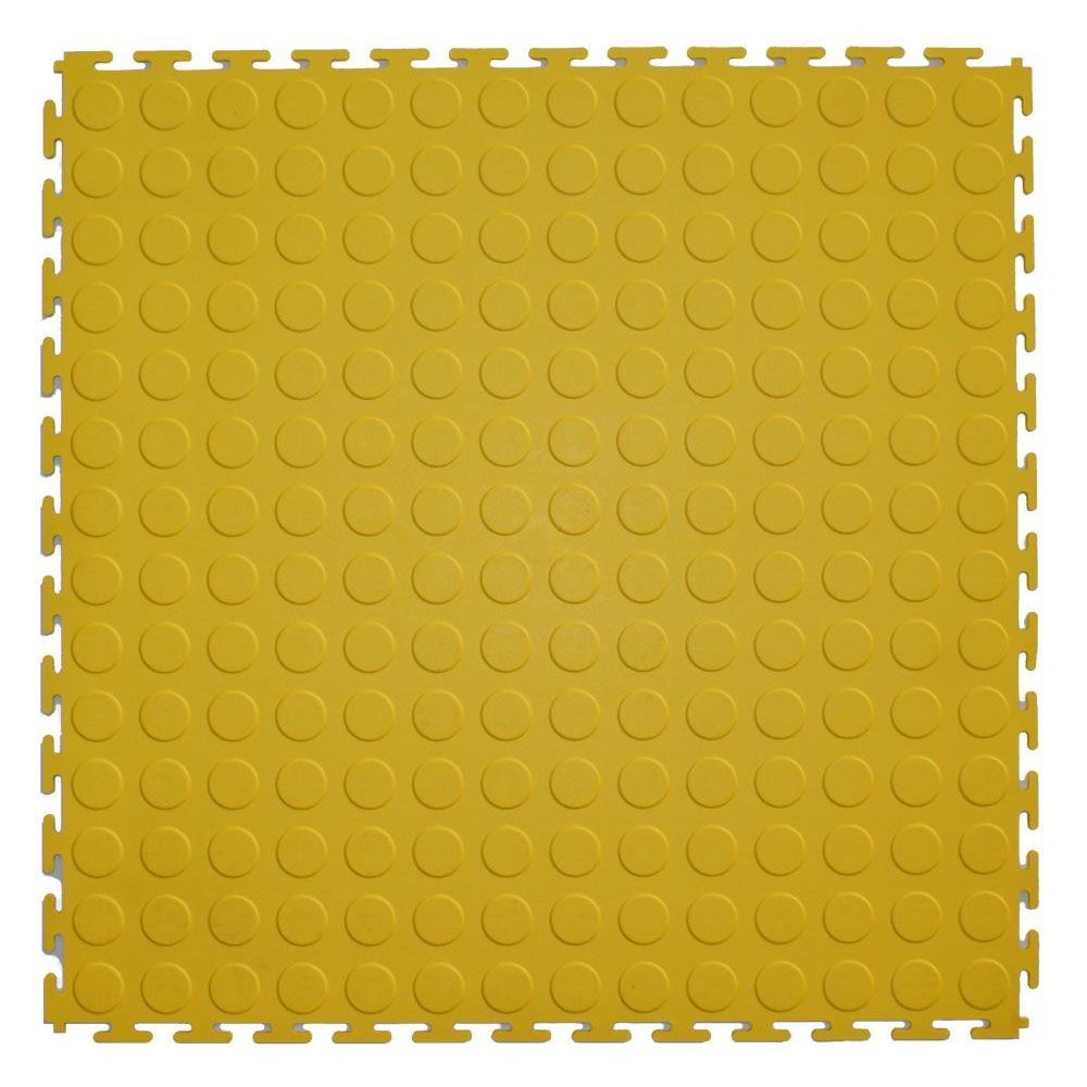 IT-tile 20-1/2 in. x 20-1/2 in. Coin Yellow PVC Interlocking Multi-Purpose Flooring Tiles (23.25 sq. ft./case)