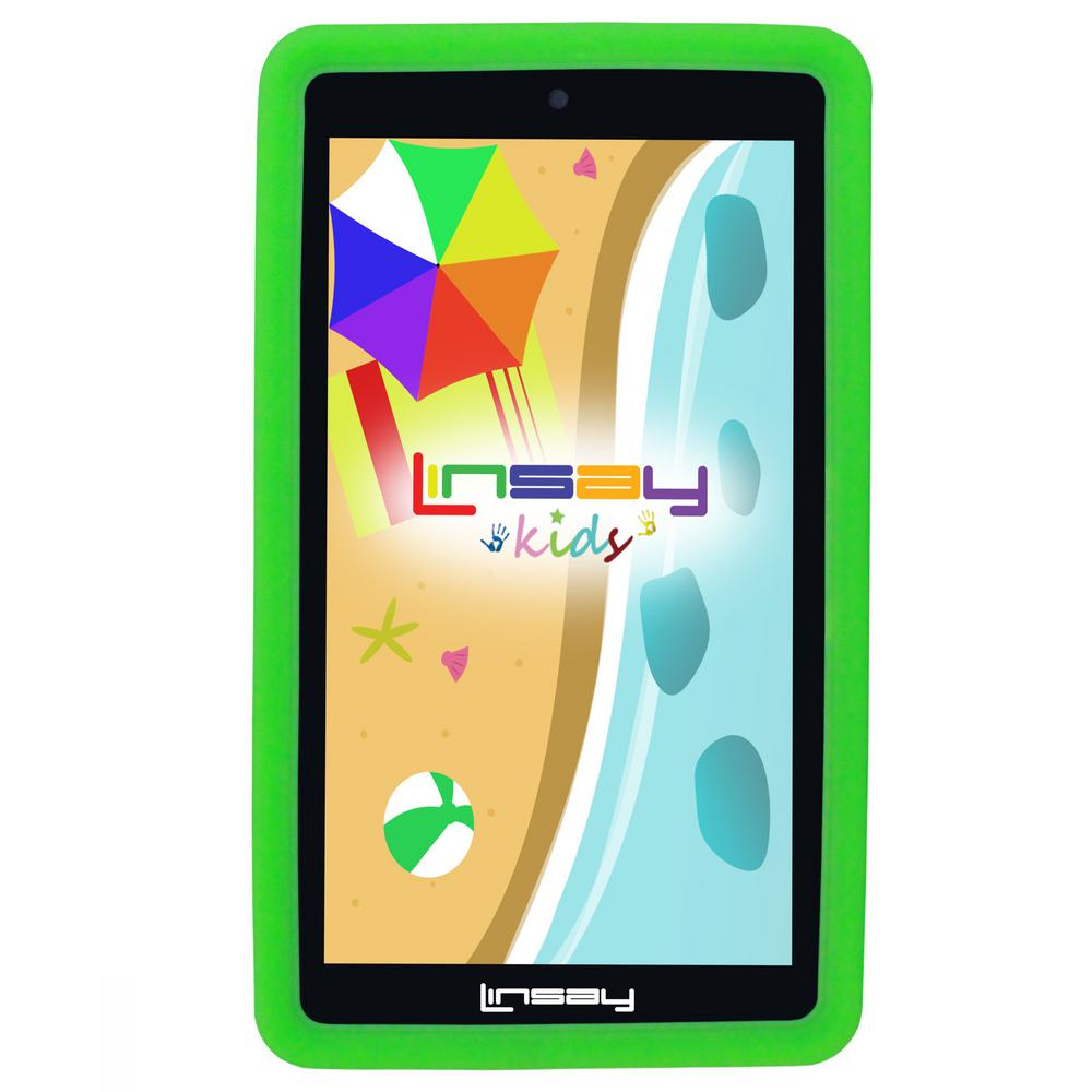 LINSAY 7 in. 2GB RAM 16GB Android 9.0 Pie Quad Core Tablet with Green Kids Defender Case was $119.99 now $59.99 (50.0% off)