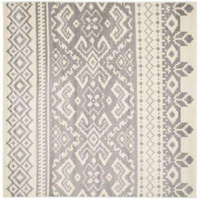 Adirondack Ivory/Silver 8 ft. x 8 ft. Square Area Rug
