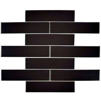 Metro Soho Subway Matte Black 1-3/4 in. x 7-3/4 in. Porcelain Floor and Wall Tile (1 sq. ft. / pack)