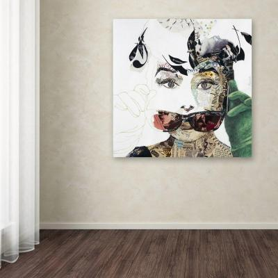 """35 in. x 35 in. """"Audrey"""" by Ines Kouidis Printed Canvas Wall Art"""