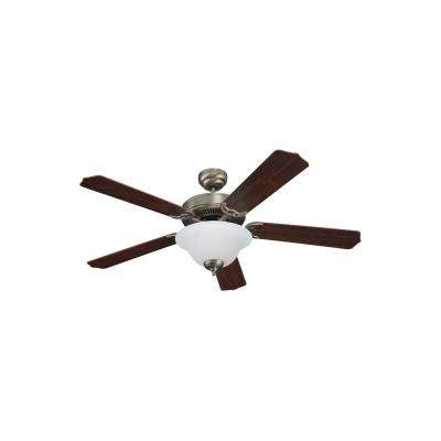 Quality Max Plus 52 in. LED Antique Brushed Nickel Ceiling Fan